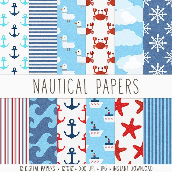 Hey, I found this really awesome Etsy listing at https://www.etsy.com/listing/182741453/nautical-digital-paper-digital-scrapbook