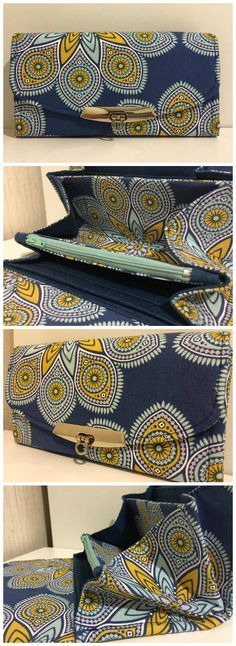 NCW clutch wallet pattern by emmaline bags.  This stunning example stitched by Ellie W.