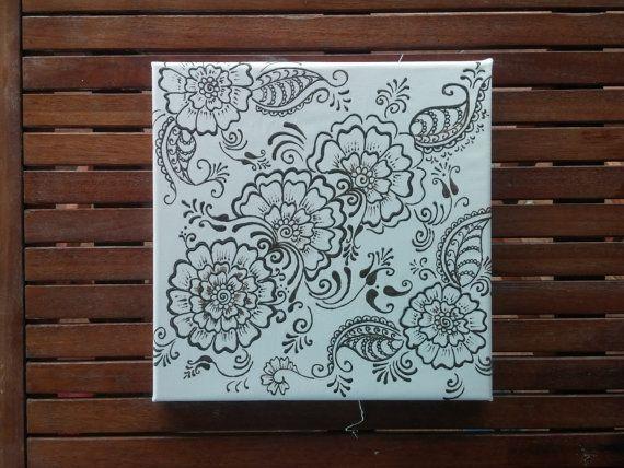 Henna design painting wall decor