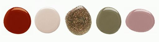 Dark Red – Try going for a darker hue this Fall.    Nude – for Fall I am opting for nudes with a grey hue.    Metallics – fun way to dress up any manicure.    Army Green –  a military-inspired manicure.    Mauve – So romanic, but still modern.