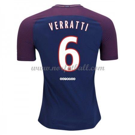 Billige Fotballdrakter Paris Saint Germain Psg 2017-18 Marco Verratti 6 Hjemmedrakt Kortermet