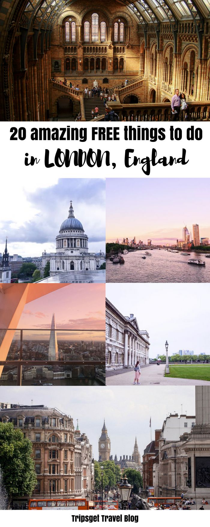 20 free things to do in London. Museums, parks, activities and attractions. Visit London on budget