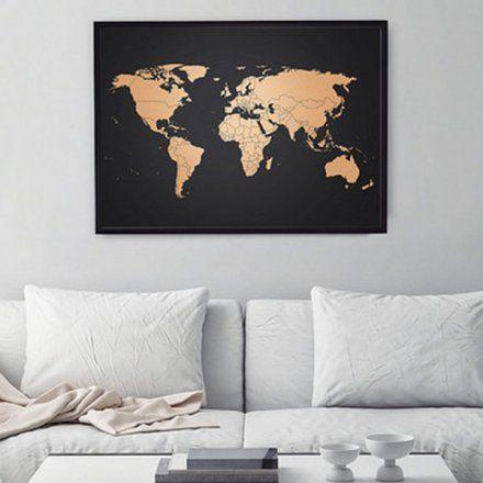 Fabulous Kupfer Weltkarte