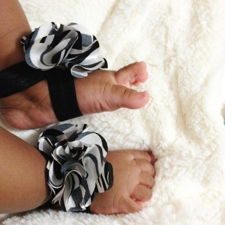 Black and White Abstract Baby Barefoot Sandals,  $7.99 Dress up those little piggies with these adorable baby barefoot sandals! Now available at The Natural Hair Shop! | Natural Hair Care for kids | Go to http://www.naturalhairshop.com/baby-barefoot-sandals/ to shop our entire line! | natural hair | protective styles | detangling | natural hair kids | natural hair information | locs | natural hair inspiration | baby shower gifts |it's a girl | girl baby shower | pregnancy | gift ideas