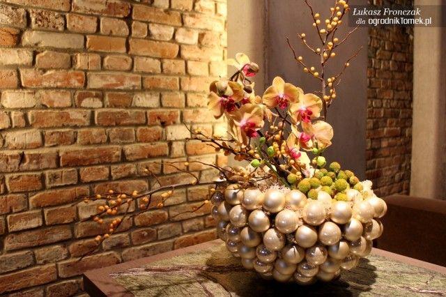 Świąteczne kompozycje florystyczne / stroiki bożonarodzeniowe