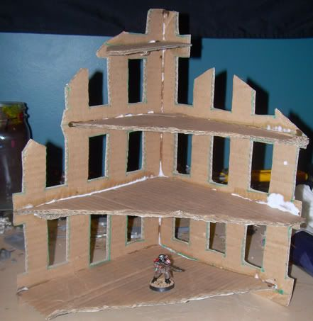 Terrain tutorial love this cheap and easy way of re-cykling and making a ruin