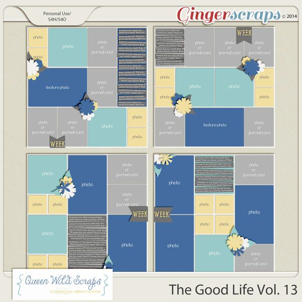 The Good Life Vol. 13 by Queen Wild Scraps available here: http://store.gingerscraps.net/The-Good-Life-Vol.-13.html #queenwildscraps #digiscrap #digitalscrapbooking #templates #projectlife #project52 #templates