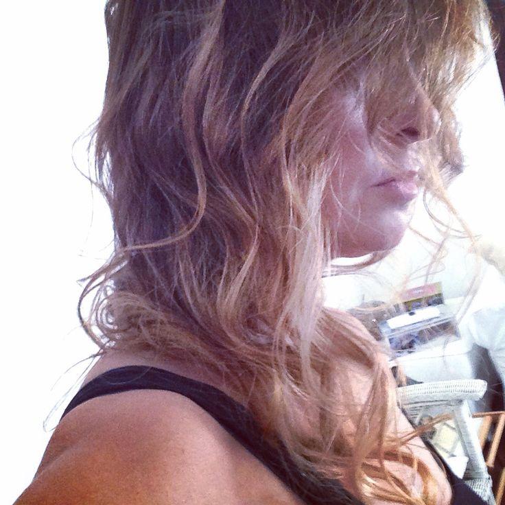Bronde , long hair