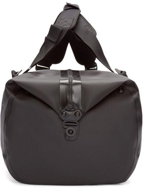 11 by Boris Bidjan Saberi Black Travel-Zip Duffle Bag