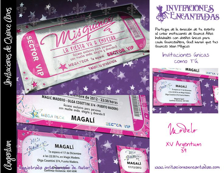 invitacion con dise u00f1o de ticket