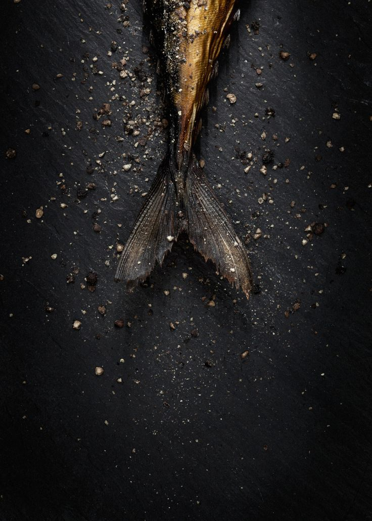 Black pepper on fish. Photo by Line Klein From Cereal Magazine Volume 2