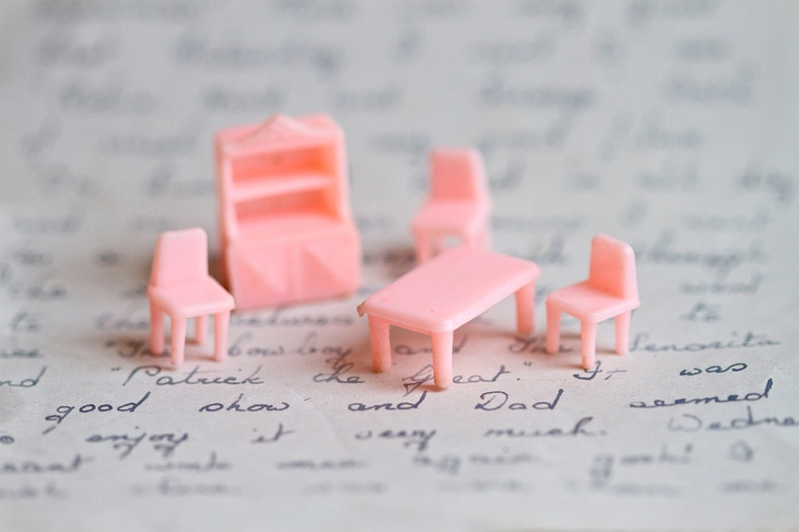 Image detail for -Tiny Weenie Pink Furniture Miniature Kitchen by Meanglean on Etsy