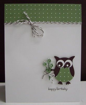 Loll Thompson, Stamping with Loll: Stampin' Up! 2-Step Owl Punch; SU Happy Moments sentiment stamp; PoppyStamps Wildflower Patch