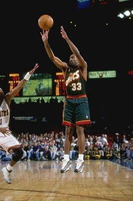Hersey Hawkins of the Sonics.  Starter fo the '96 Western Conference Champs.
