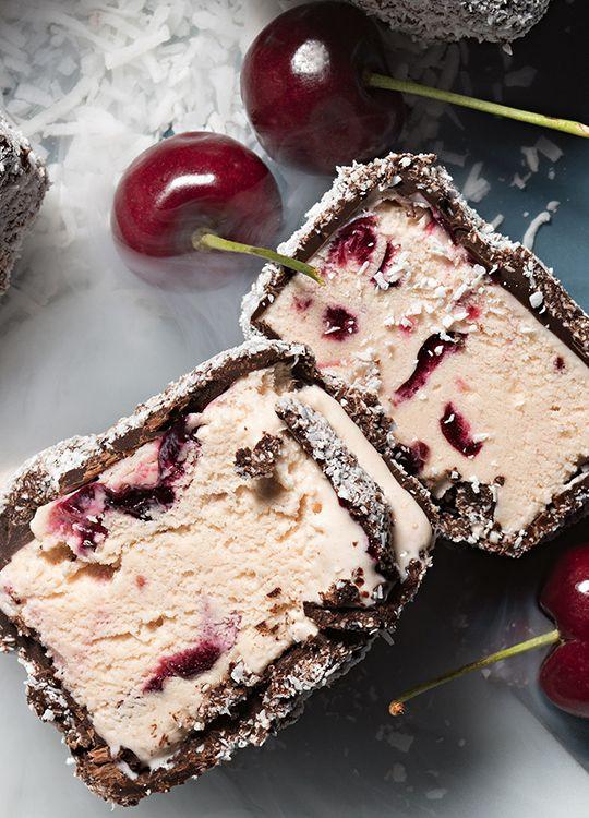 How to make Ice Cream Cherry Lamingtons
