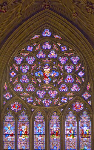 Rose Window St Patricks Cathedral New York Stained