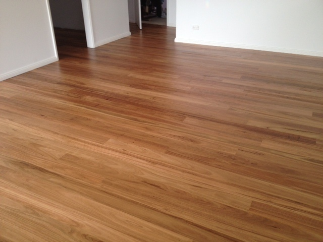New blackbutt floor