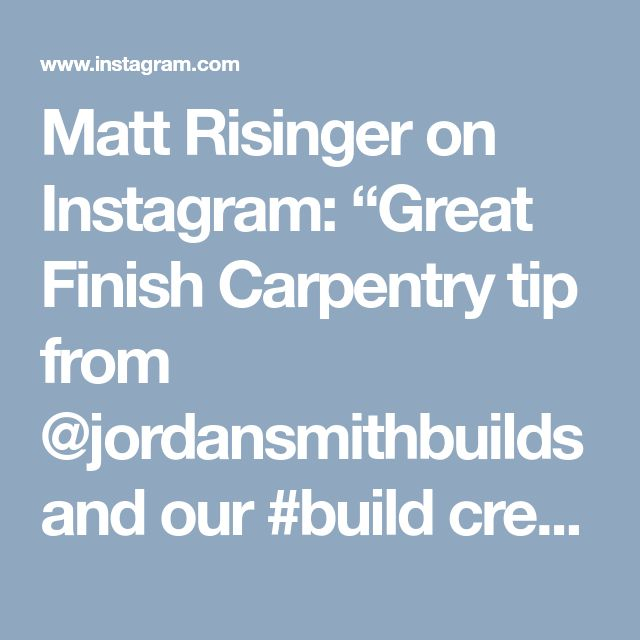 "Matt Risinger on Instagram: ""Great Finish Carpentry tip from @jordansmithbuilds and our #build crew! #tiptuesday #Repost ・・・ #protip Anchor the #door #jamb to the jack…"""