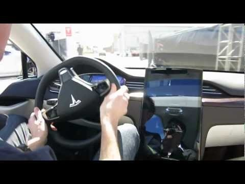 """Tesla Model X Launch First Ride  """"the Model X's ride can be described as smooth and quiet."""""""