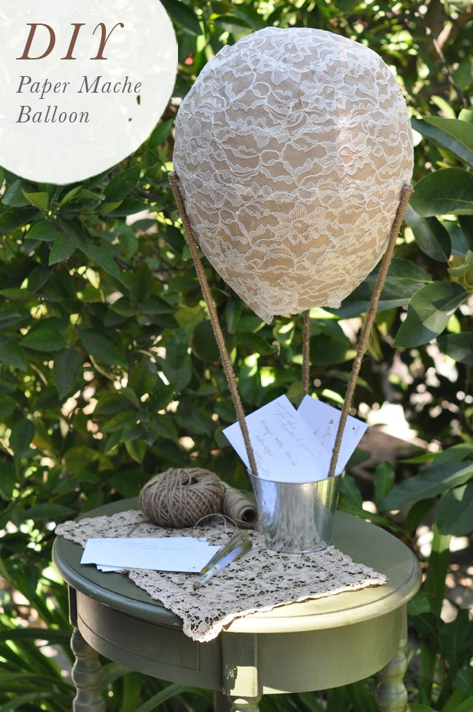 Lace Paper Mache Balloon | Smitten On Paper