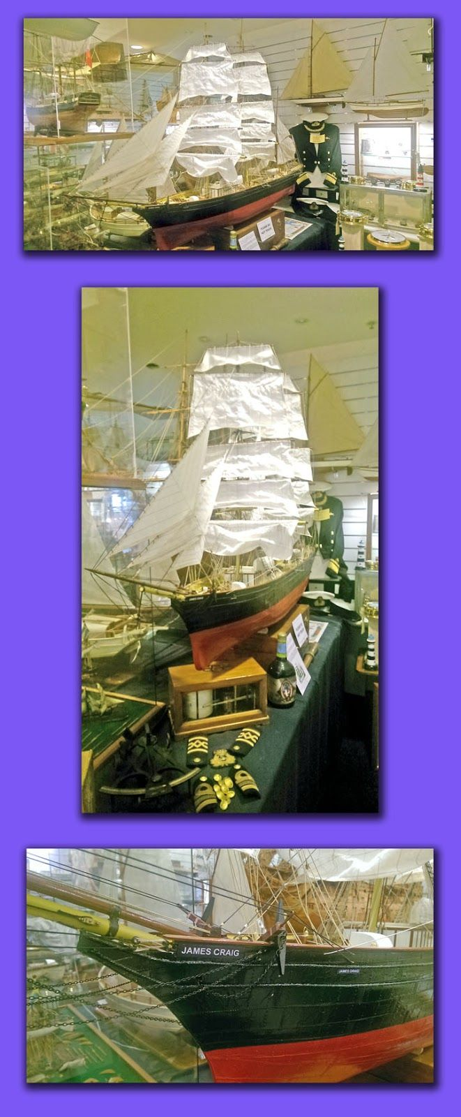 Maritime Model Museum: A 2 metre long model THE JAMES CRAIG taking pride of place in our collection