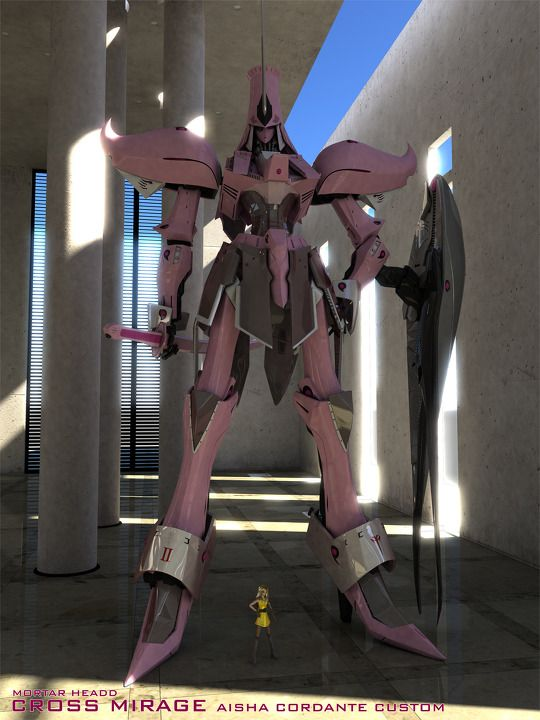 CROSS MIRAGE FEMALE TYPE (AISHA CORDANTE CUSTOM), AKD, 3DS MAX, FSS, MH-15