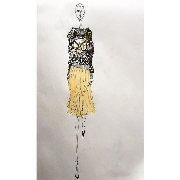 #fashiondesignstudent #hkufashion #fashiondrawing #illustration #fashionillustration by amkeweinberg