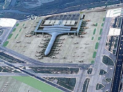 Terminal t-1 del aeropuerto de Barcelona. Ricardo Bofill