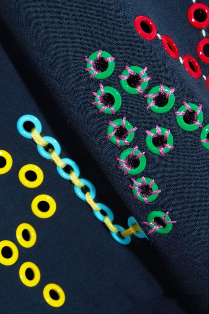 Mira Mikati | Play eyelet-embellished cotton-jersey sweatshirt | NET-A-PORTER.COM