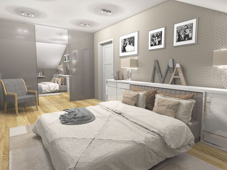Modern and romantic bedroom