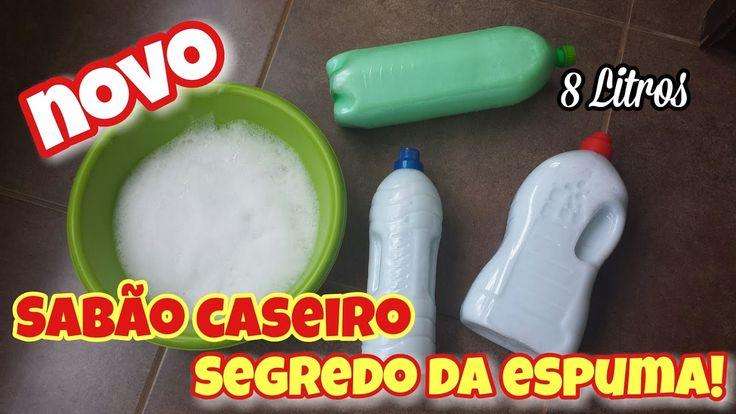 SABÃO CASEIRO QUE FAZ MUITA ESPUMA - FÓRMULA MÁGICA