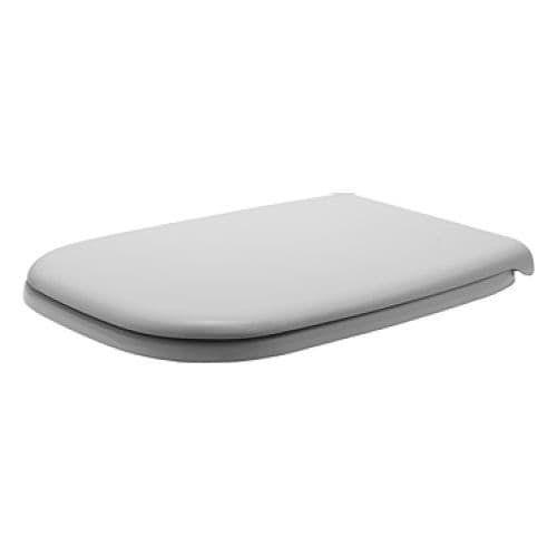 Duravit 67310000 D-Code Rectangular Toilet Seat, Silver stainless steel