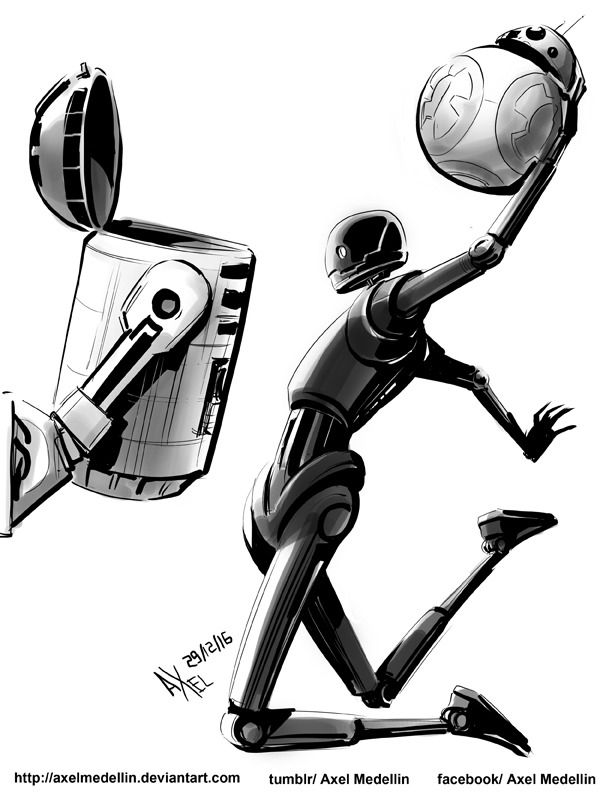 "axelmedellin: ""Daily sketch 29 December 2016 Droid Dunk """