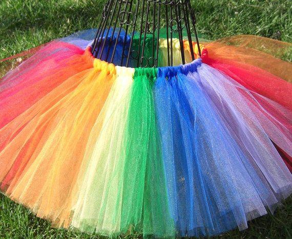Rainbow tutu , Girls Rainbow tutu, Baby Rainbow tutu---  Multi-colored Tutu--- Red, Orange, Yellow, Green, Blue, Purple Tutu Skirt