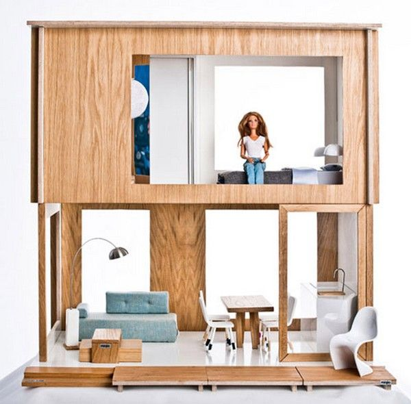 IKEA for barbie - made with sustainable wood and not toxic material! Awesome!