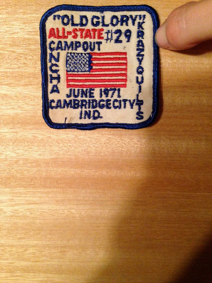 Vintage Patch - Cambridge City, Indiana, Old Glory All-State Campout June 1971 by FindMakeLove on Etsy https://www.etsy.com/listing/171902606/vintage-patch-cambridge-city-indiana-old