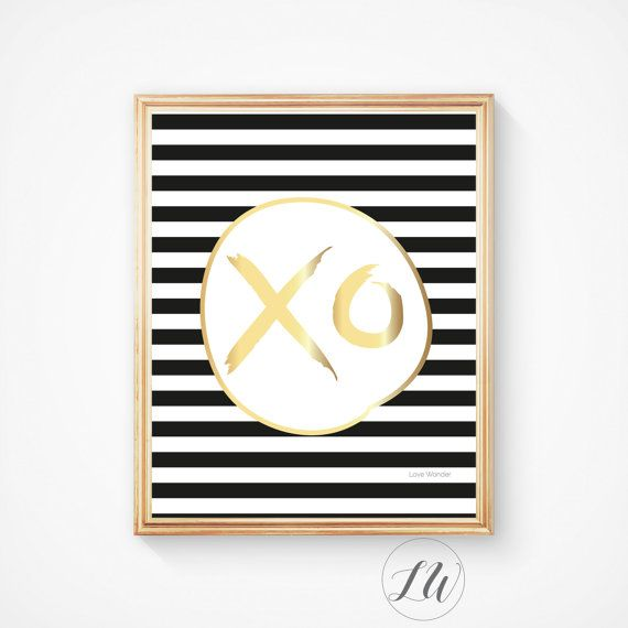 Black and white, Wall art, Love print, Hugs and kisses, Xo print, Xo poster, inspirational quote, motivational quote, scandinavian print