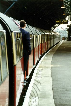 The Guard awaiting departure from Edgware