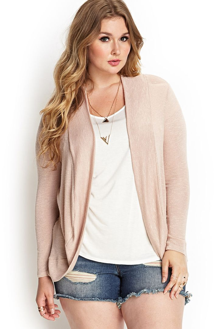Lace Open-Knit Cardigan | FOREVER21 PLUS - 2000061050