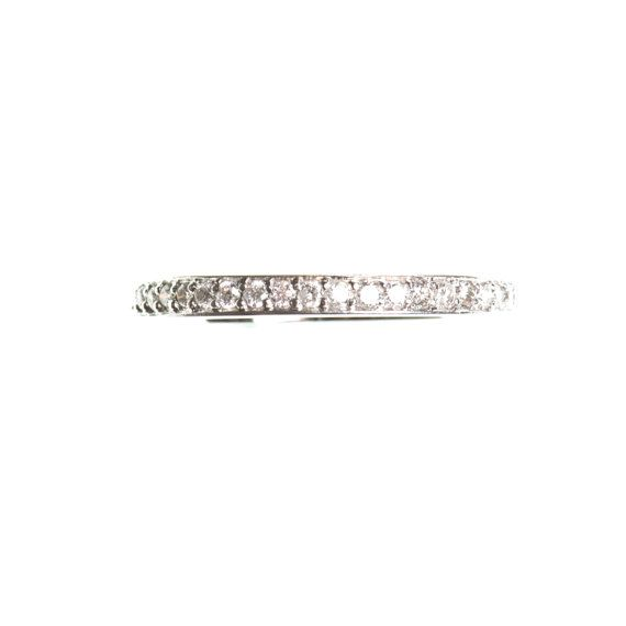14k Black oxidized gold half eternity pave ring  CHOOSE YOUR