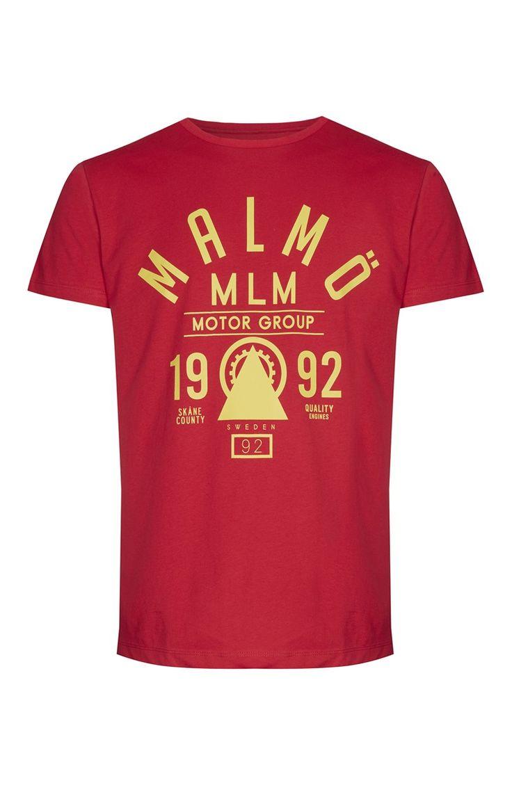 Primark - Red Malmo Motor T-Shirt