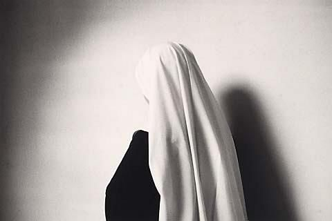 """Anne Noble The white veil of a novice """"Our habit signifies complete detachment from the things of this world"""" (M Foundress 1902)"""