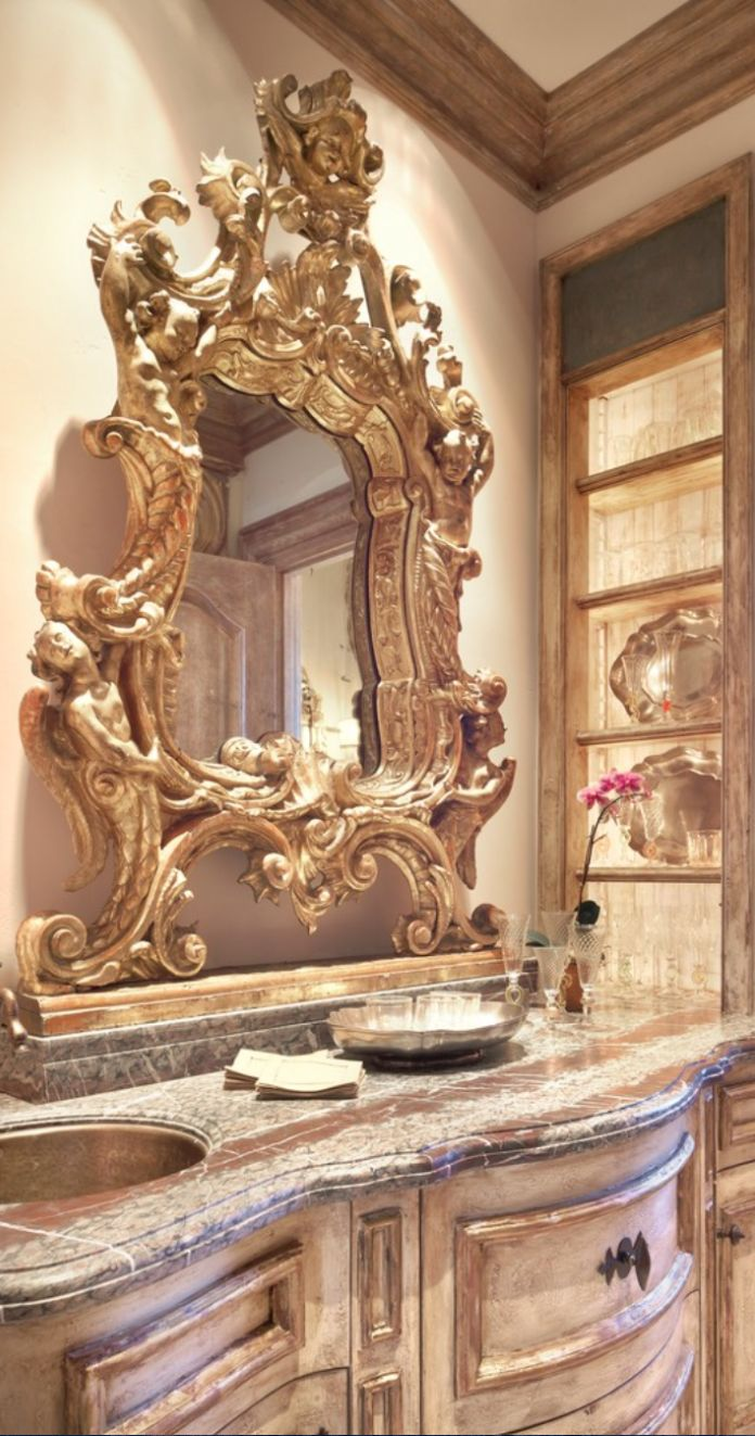 old world mediterranean italian spanish tuscan homes decor - Tuscan Bathroom Design