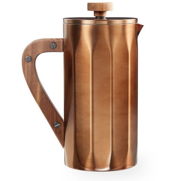 Starbucks Stainless Steel Coffee Press with Walnut Handle Copper,... ❤ liked on Polyvore featuring home, kitchen