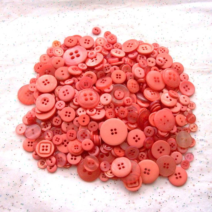 50 plus Peach Coral Colored Buttons Assorted size buttons (b775). $3.00, via Etsy.