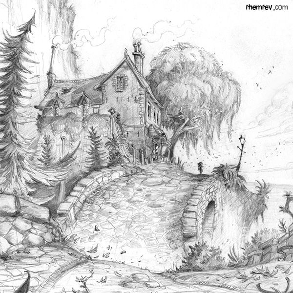 giant coloring books for adults environment designs in pencil done for my personal project