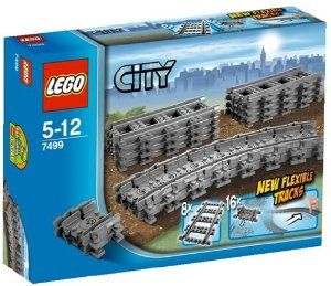 Lego City 7499 Flexible Tracks by LEGO. $39.50. 29.175. 11.67. This LEGO 7499 Flexible Tracks play set contains 8 straight tracks and 16 flexible tracks. Tracks in this kit are not compatible with LEGO 9V trains.