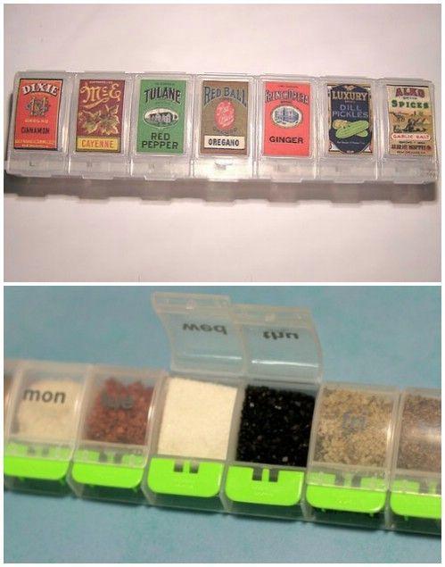 Especias portátil Kit Organizador - 150 Dollar Store organización de ideas y proyectos para toda la casa