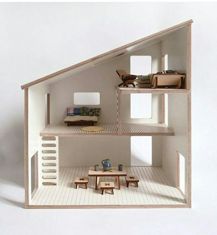 Milky Wood modernist doll's house