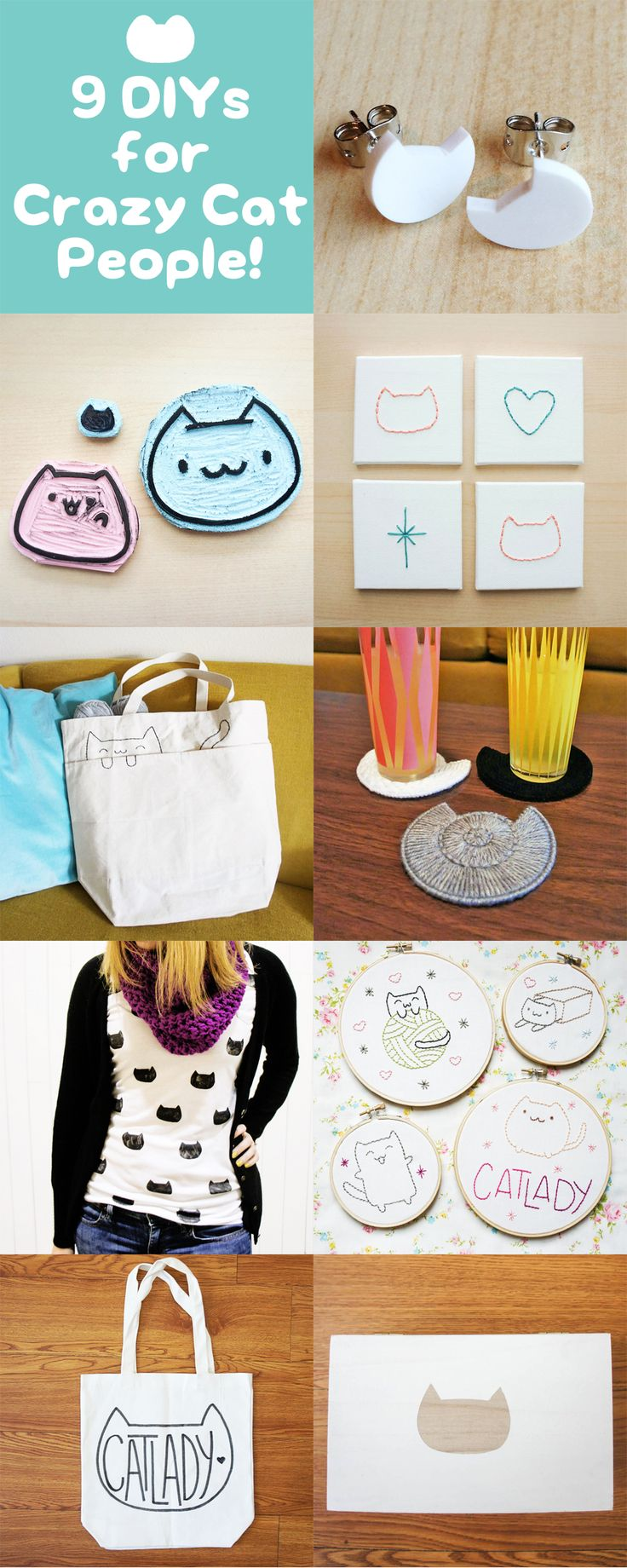 9 DIYs for Crazy Cat People